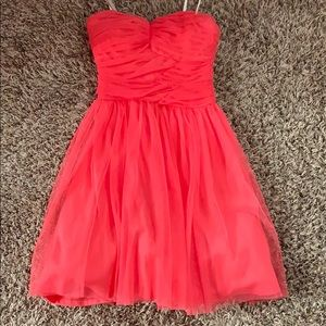 Coral/pink toole dress